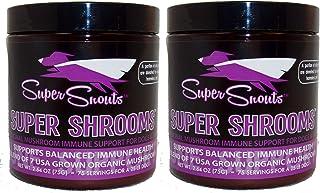 Super Snouts Super Shrooms Super 7 Organic Medicinal Mushroom Blend 5.28oz Jar w/Scoop
