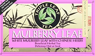 Triple Leaf Tea Bags, Mulberry Leaf, 20 Count