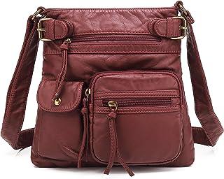 ba92449cb3 Scarleton Ultra Soft Multi Pockets Washed Leather Accent Top Belt Crossbody  Bag Shoulder Purses for Women