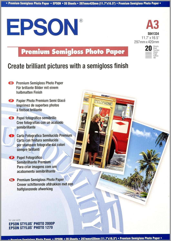 Financial sales sale Epson Premium - Semi-gloss Max 54% OFF photo paper x mm 251 420 A3 297