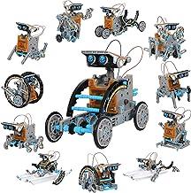 Discovery Kids Mindblown STEM 12-in-1 خورشیدی ربات ساخت 190 قطعه با موتور و چرخ دنده موتور خورشیدی کار شده ، مجموعه مهندسی ساخت