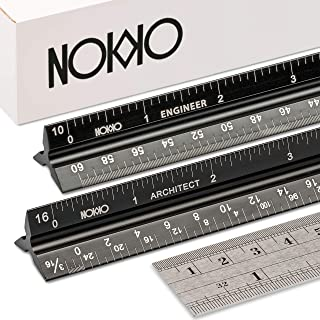 NOKKO Architectural and Engineering Scale Ruler Set – Professional Measuring Kit..
