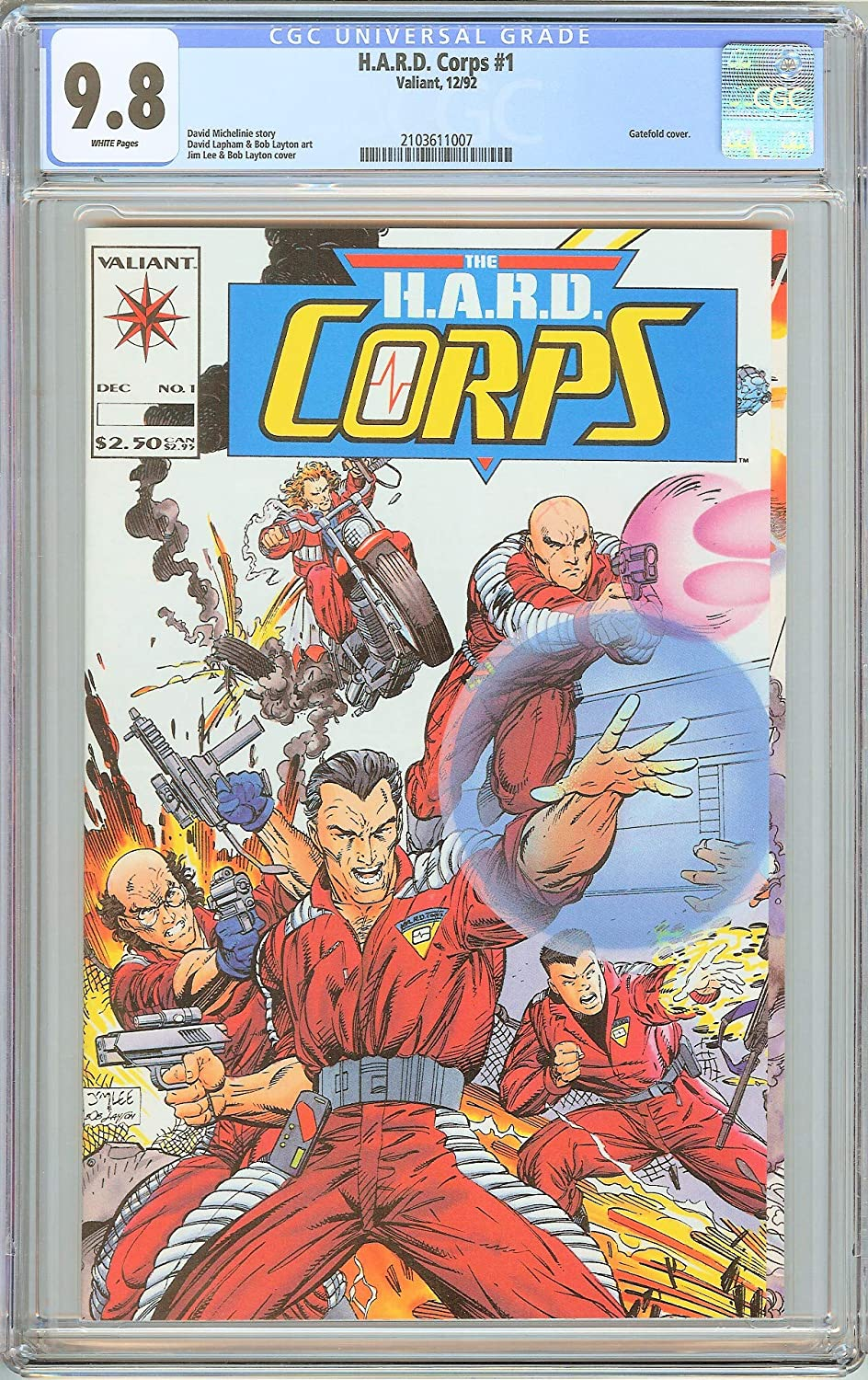 H.A.R.D. Corps #1 Spring new work one after another CGC 9.8 White Gatefold c 1992 2103611007 mart Pages
