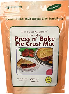 Dixie Carb Counters 1 Net Carb Home Made Press n' Bake Pie Crust Mix