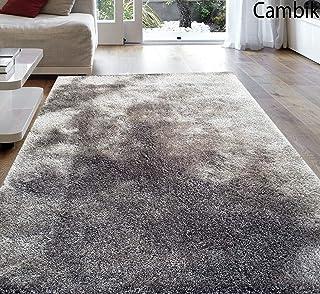 Cambik Super Soft Indoor Bedroom Carpet Runner Dust Absorbent Rubber Backing Anti Slippery Backing Room Bedroom Entrance Living Room Rug Mat Carpet Grey Color (5X7 Feet)