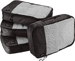 AmazonBasics 4-Piece Packing Cube Set - Medium, Black