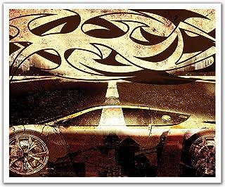 ملصق جداري قابل للإزالة من JP London POSLT2111 uStrip Lite ووشم سباق الشوارع القبلية هوت ويلز، 60.96 سم × 49.75 سم