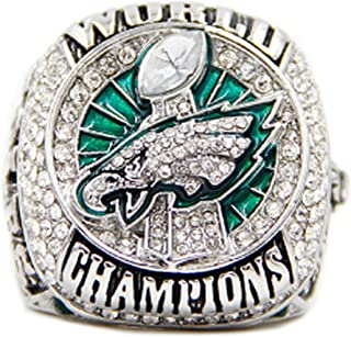 RongJ- store New 2017 Philadelphia Eagles Championship Rings for Man Gift for Fans Display case Christmas Day Gift Xmas