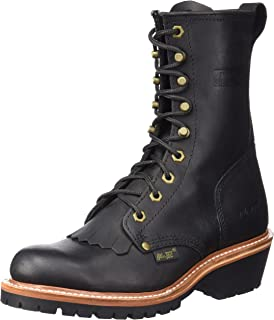 "AdTec Men's 1964 10"" Fireman Logger Black Work Boot"