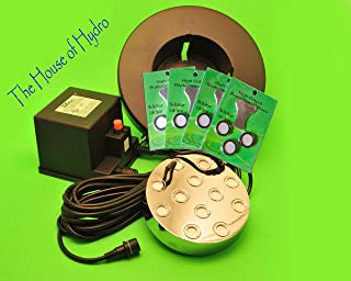 Commercial 12 Head Mist Maker Kit- (Twelve Disk Mist Maker, Transformer, Float, and 12 House of Hydro Brand Replacement Discs)