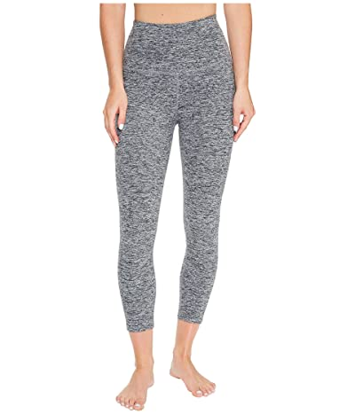 Beyond Yoga Spacedye High Waisted Capri Leggings (Black/White Spacedye) Women