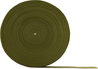 """Army Green Polypropylene Webbing 50 Yards x 1-inch; 1"""" Wide Polypro Strap Webbing Goes Great with Camo; Great for Bags, Outdoor Gear; Collars, Leashes, Halters, Sporting Gear & More"""