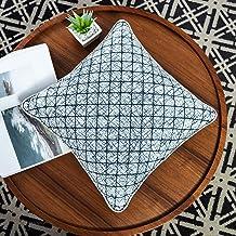 أغطية وسائد Jeanerlor Denim على شكل ألماسي مبطنة مربعة الشكل مزخرفة من قماش الدينيم مقاس 18 × 18 بوصة (45 × 45 سم) أغطية و...