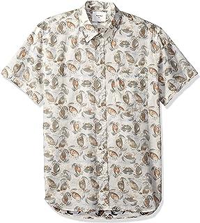 Billy Reid Men's Standard Fit Short Sleeve Button Down Tuscumbia Shirt