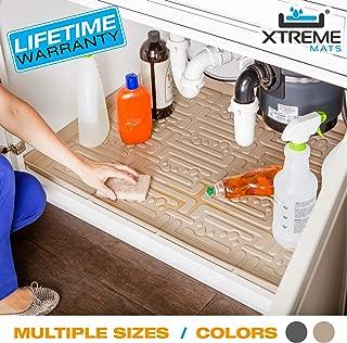 Xtreme Mats Under Sink Kitchen Cabinet Mat, Pick Your Size, 33 5/8 x 21 7/8, Grey