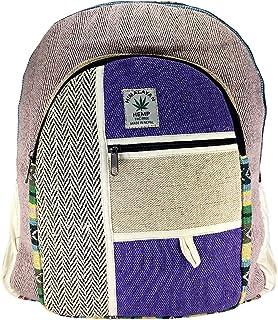 Mochila orgánica 100%. De Fibra de cáñamo y algodón a Rayas Compartimento para Ordenador portátil, Hecho en Nepal.art2