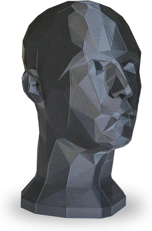 Cabeza Maniqu/í Moderna para Decoraci/ón o Exposici/ón Negro