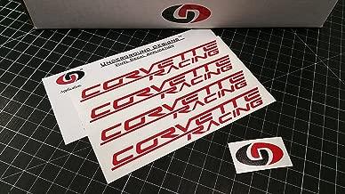 UNDERGROUND DESIGNS Corvette Racing Wheel Decals C5 C6 C7 Stickers (4 Pack) 0.75