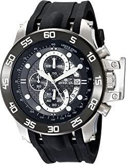 Invicta 19251 Watch Men's I-Force Stainless Steel With, Black Synthetic Band