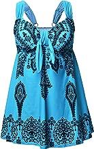 Nonwe Women's Plus-Size Swimsuit Retro Print Two Piece Pin up Tankini Swimwear