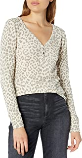 Lucky Brand Women's Allover Cream Printed Thermal Top
