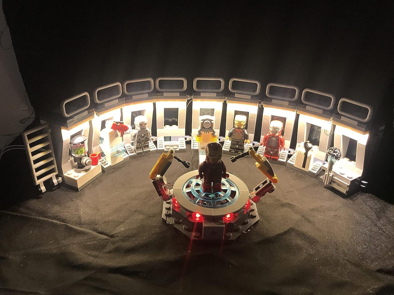 Shining Blocks LED Lighting kit for Lego 76125 Iron Man Hall of Armor Marvel...