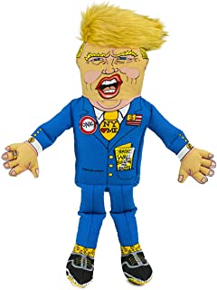 """FUZZU Donald Trump Political Parody Novelty Dog Chew Toy with Squeaker - Large 17"""" Size Toy"""