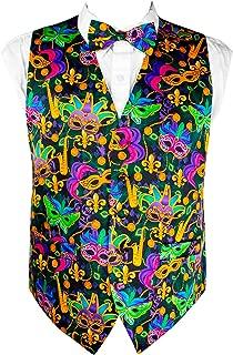 Mardi Gras Colorful, Vibrant Masquerade Mask Vest Set