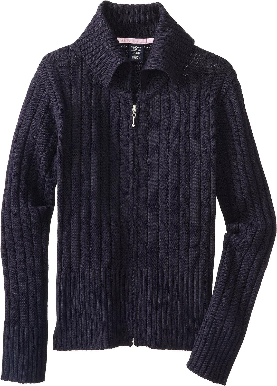 U.S. Polo Assn Little Girls' Button Big Sweater Hooded Max Austin Mall 50% OFF