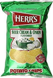 Herr's Sour Cream and Onion Potato Chips, 9 Ounce