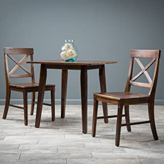 Christopher Knight Home Potter 3pc Mahogany Stained Wood Dining Set, Brown