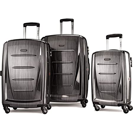 Samsonite Winfield 2 Hardside Expandable Luggage with Spinner Wheels, Charcoal, 3-Piece Set (20/24/28)