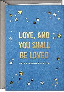 Hallmark Signature Love Card, Love and Be Loved (Romantic Anniversary Card or Birthday Card)