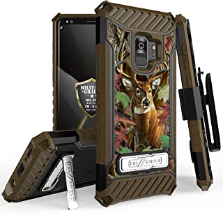 Samsung Galaxy S9 PLUS Tri-Shield Series Rugged Heavy Duty Shock Resistant Case [With Kickstand & Lanyard] for Galaxy S9 PLUS, S9+ (SM-G965) (Deer Camo)