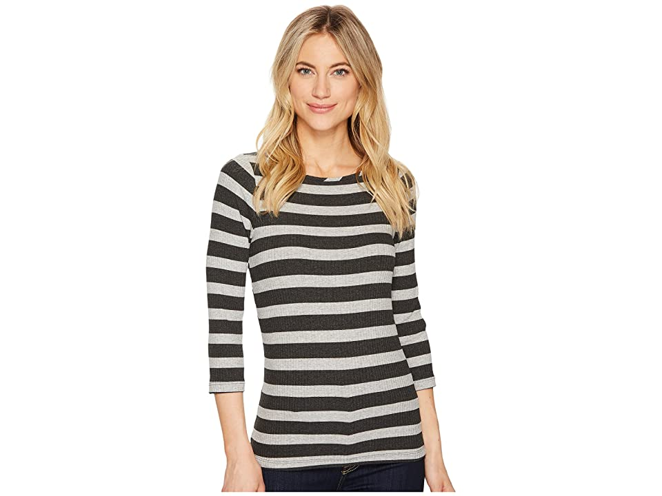 Three Dots Alpine Stripe (Charcoal/Granite) Women