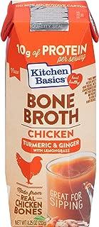 Kitchen Basics Turmeric & Ginger With Lemongrass Chicken Bone Broth, 8.25 fl oz (Pack of 12)