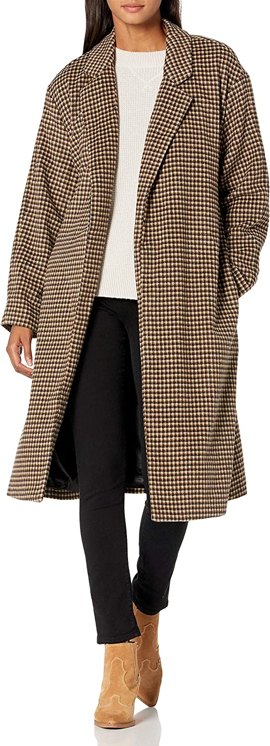 ASTR the label Women's Roxanne Collared Long Sleeve Duster Coat