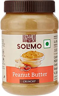 Amazon Brand -	Solimo Peanut Butter , Crunchy , 1 kg