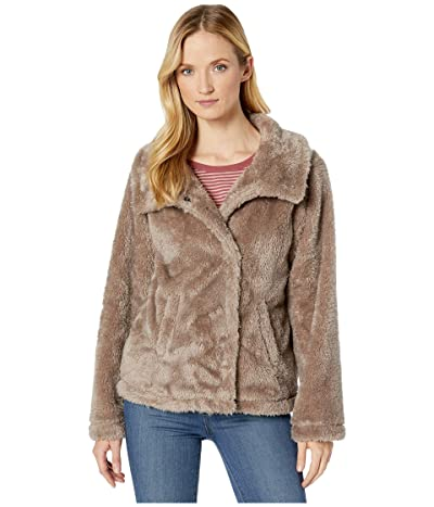 Dylan by True Grit Fleece Forever Soft Inside and Out Snap Jacket with Pockets (Sundance Fog) Women