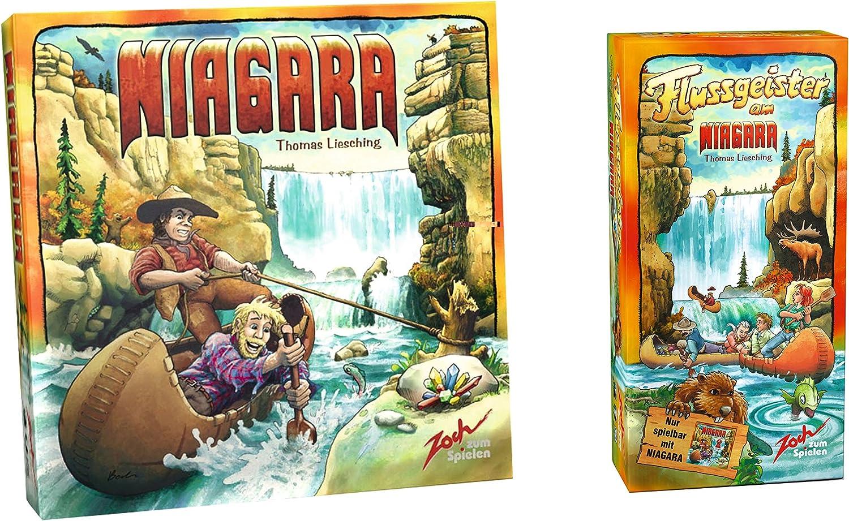 Zoch 601140048 Bundle Niagara mit Erweiterung Flussgeister, Spiel des Jahres 2005