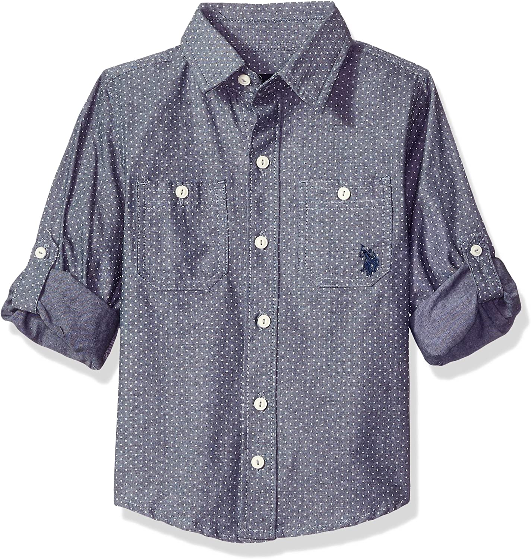 U.S. Polo Assn. Boys' Long Sleeve Chambray Sport Shirt