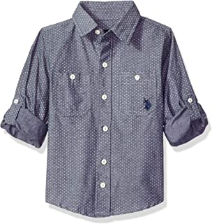 U.S. Polo Assn. Boys' Long Sleeve Chambray Sport Shirt