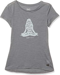 [エスエヌ スーパーナチュラル] TシャツヨガメリノウールグラフィックTシャツ [sn] suepr.natural collection レディース