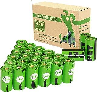 PET N PET Poop Bags 24 Rolls/360 Bags Dog Waste Bags Unscented Leak-Proof Easy Tear-Off