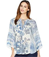 Moroccan Dreams Lightweight Rayon Dot Woven Top