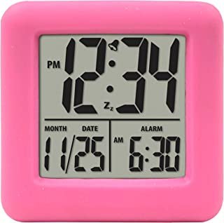 Equity by La Crosse 70902 Pink Soft Cube LCD Alarm Clock