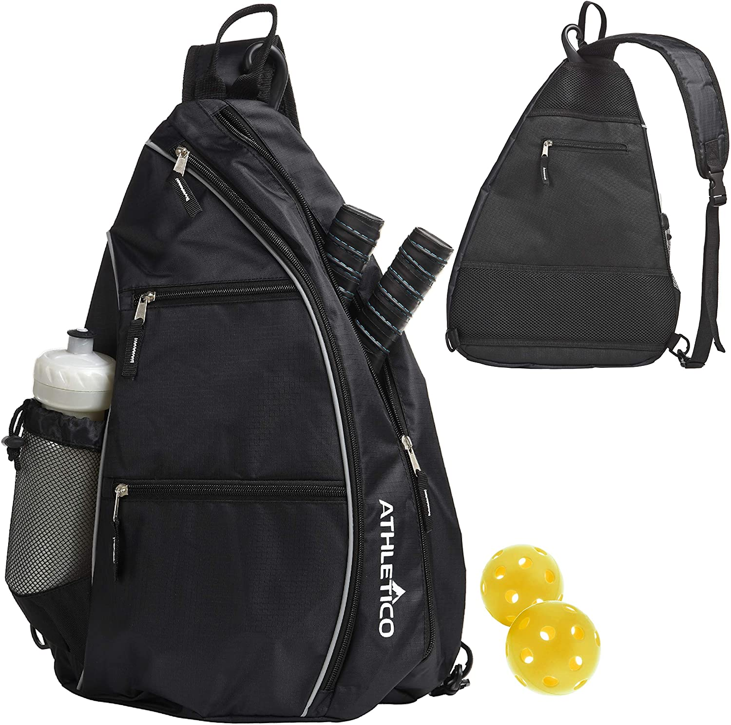 Athletico Sling Bag - Crossbody Fees free!! Pickleball for Tennis Backpack Price reduction