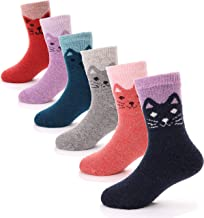 Boys Girls Wool Socks Soft Warm Thick Thermal Cotton For Child Kid Toddler Crew Winter Socks 6 Pairs