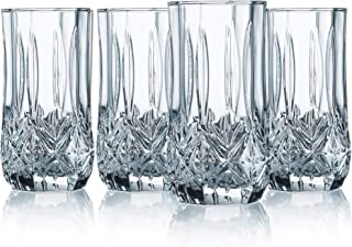 Elegant Highball Glasses Clear Heavy Base Tall Bar Glass - Set Of 12 Drinking Glasses for Water, Juice, Beer, Wine, and Cocktails 16 Ounces