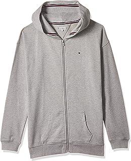 Tommy Hilfiger Girl's Essential Signature Zip Hoodie, Grey, 16 Years